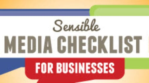 Sensible Social Media Checklist For Businesses