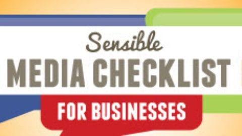 Sensible Social Media Checklist For Businesses