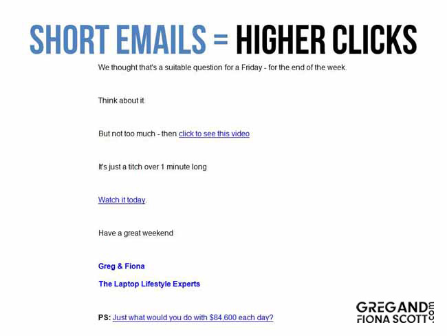 high click through rate