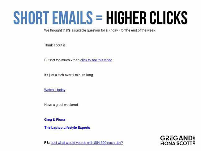 high click through rate