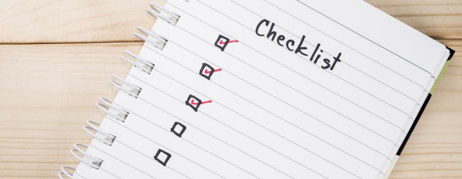 affiliate marketing check sheet