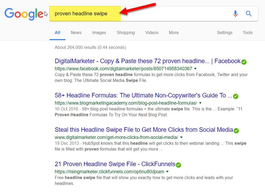 "Search Google for ""proven headline swipe"""